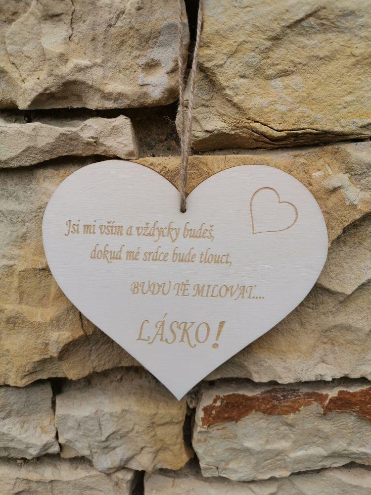 Srdce s věnováním z Lásky
