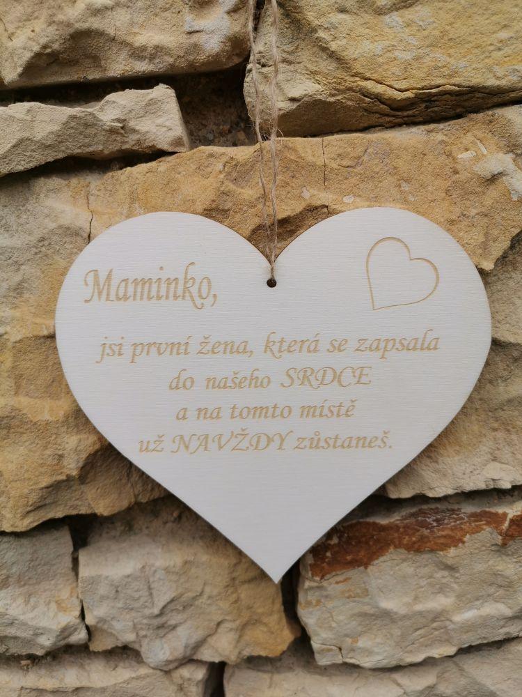 Srdce s věnováním Mamince
