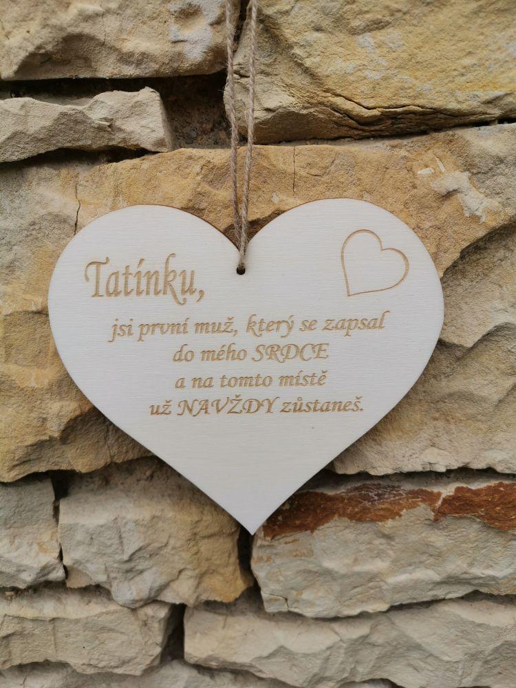 Srdce s věnováním Tatínkovi